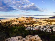 Blick auf die Akropolis vom Philopapposhügel
