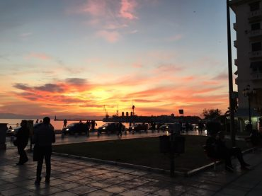 Sonnenuntergang in Thess