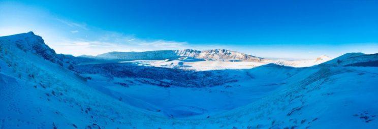 Blick in den Krater des Nemrut - ganz hinten links kann man den Kratersee erahnen