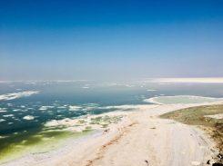 Der Urmiasee, der immer mehr versalzt. Präsident Rohani hat bereits entsprechende Rettungsmaßnahmen ins Leben gerufen.