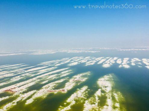 Der Urmia, dessen Salzgehalt etwas dem des Toten Meeres entspricht und der immer höher wird, weil der See immer mehr schrumpft