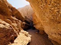Die Wände im Jenni-Canyon sind äußerst bröckelig. Konglomerat bestimmt hier das Bild