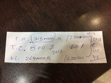 Versuch der Preisverhandlung: links die Zahlen des Ticketverkäufers, rechts meine Preisvorstellung. Aber die Preise sind nicht verhandelbar!