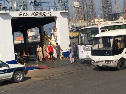 Getrennte Fahrt für die Passagiere der Hormuz-12