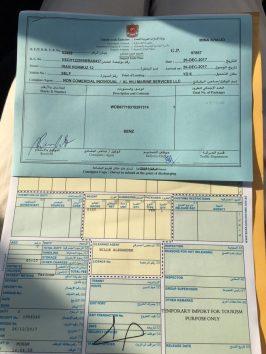 Fertige Dokumente zum Verlassen des Hafengeländes in Sharjah