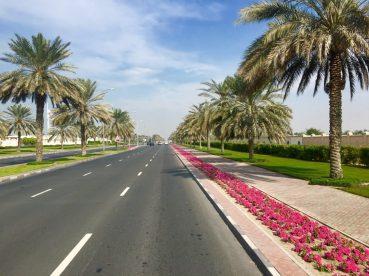 Typisches Straßenbild in Dubai