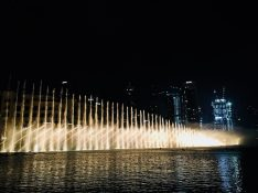 Dubai Fountain by night