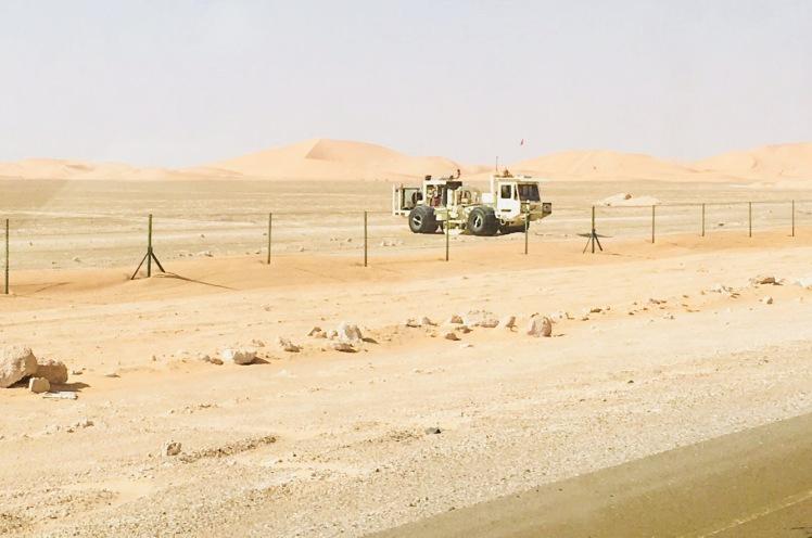 Bodenscanner auf einem Öl- und Gasfeld