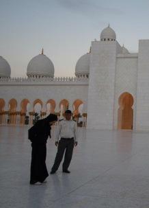 Sheikh Zayed Moschee im Jahr 2013 - total leer!