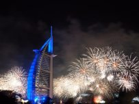 Silvester in Dubai am Burj Al Arab