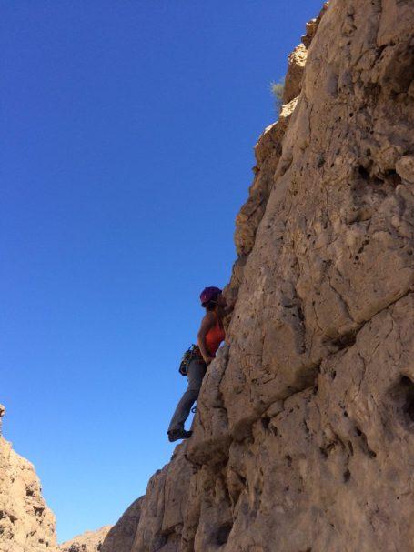 Klettern im Wadi Daykah
