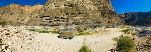 Unser Stellplatz im Wadi Suwayh