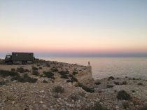 Unser Stellplatz in der Nähe des White Beach an der Küste Oman