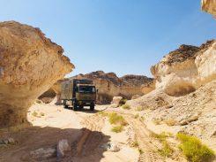 Die Kalkfelsen im Oman