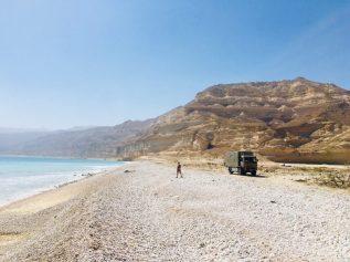 Unser Stellplatz am Meer in der Nähe von Salalah an der 49 Richtung Maskat