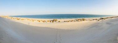 Unser Stellplatz in den weißen Dünen an der Küste Omans