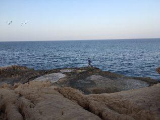 Angelversuch an Omans Küste