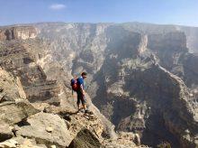 Am Lebel Shams auf dem Weg zum Klettersteig