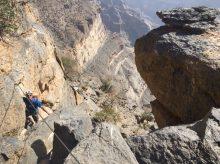 Klettersteig beim Aufstieg