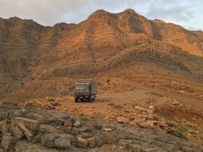 Unser Stellplatz im Hajar-Gebirge auf Musandam