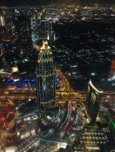 Der Blick von unserem Sitzplatz im At.Mosphere über Dubai