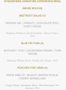 Unser 7-Gänge-Dinner im Burj Khalifa: nicht mit Worten zu beschreiben; man muss es einfach gegessen haben