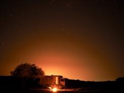 Nachtplatz an den Kalkformationen im Oman