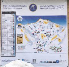 Die Übersichtskarte des Skigebiets Dizin