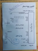 Customs Clearance Iran zusammen mit dem abgestempelten Carnet