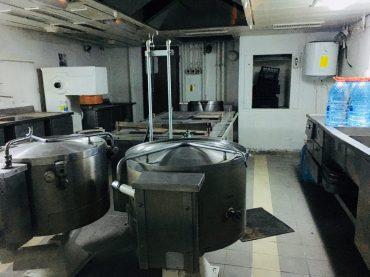 Die Küche der Fähre Alat-Aqtau