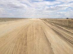 Staubige Piste zur Usbekischen Grenze