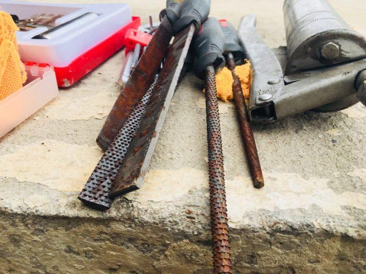 Verrostetes Werkzeug nach Vollbad