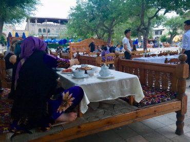 Abendessen in Buchara, Usbekistan