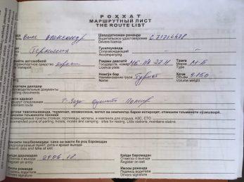 """Anhang zur """"Permission"""" Einfuhrerlaubnis"""