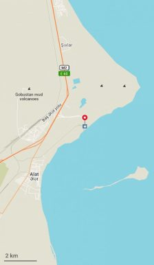 Hier befindet sich der Hafen in Alat