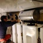 Wasserinstallation in der Heckgarage