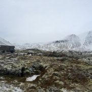 Fuso Canter 4x4 auf Island im Winter