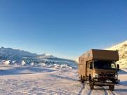 Fuso Canter 4x4 im Winter auf Island