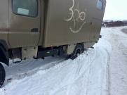 Fuso Canter 4x4 im isländischen Schnee