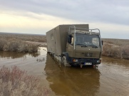 Benz 1120AF Usbekistan Aralkum-Wüste