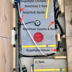 Benz - Hauptabwassertank und Anschlüsse
