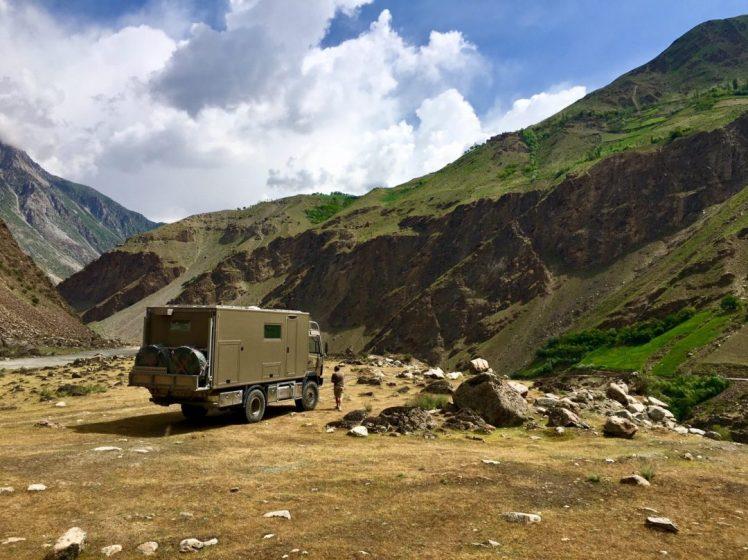 Übernachtungsplatz am Panj, Tadschikistan