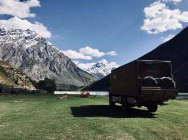 Übernachtungsplatz am Pamir Highway