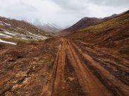 Die Piste Richtung Kirgisistan