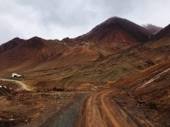 Umgebung der tadschikisch-kirgisischen Grenze auf dem Pamir Highway