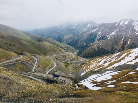 Passtraße Richtung Osch