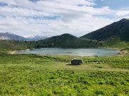 Unser Stellplatz am Bergsee auf 2.200 hm