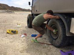 Reifenwechsel mit Sprengringfelge