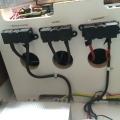 Fuso - Sicherungen für Aufbau, Ladegerät und Wechselrichter in schwarz/schwarz/mit rotem Isolierband