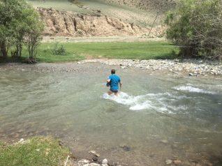 Lehrbuchmäßiger Flussbettcheck